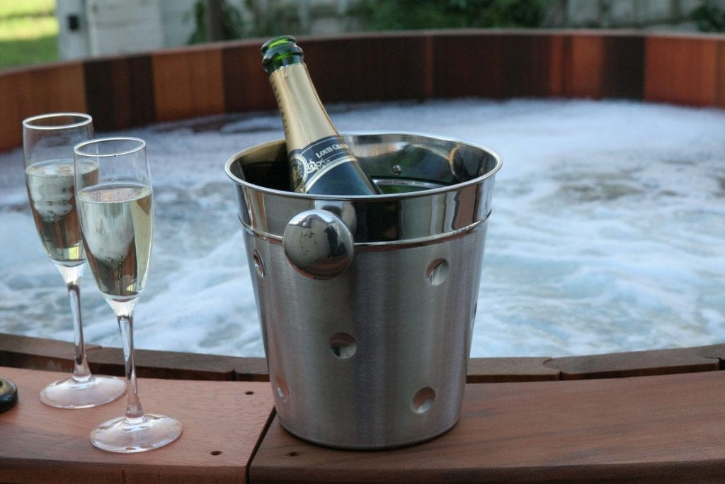 celebrate with a hot tub