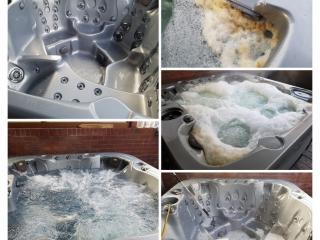 servicing a hot tub