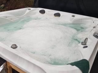 bubbling hot tub