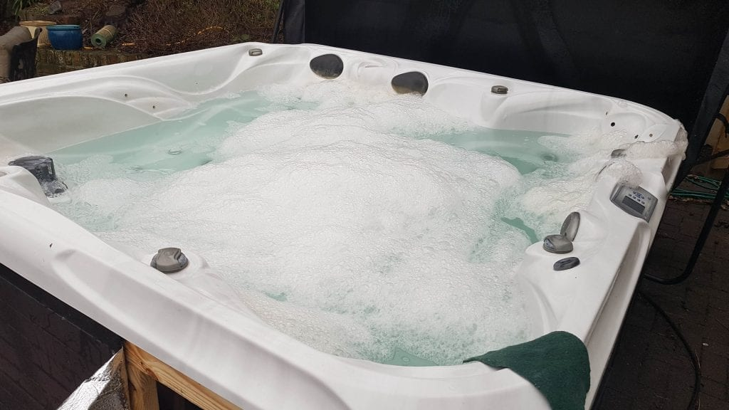 bubbling hot tub